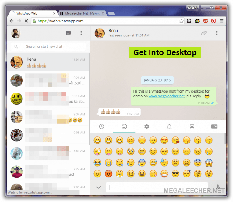 whatsapp web version on pc free download for windows 7