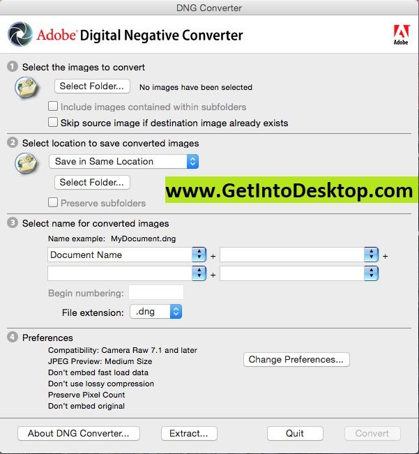 Adobe DNG Converter 11 1 0 112 Free Download - Get Into PC