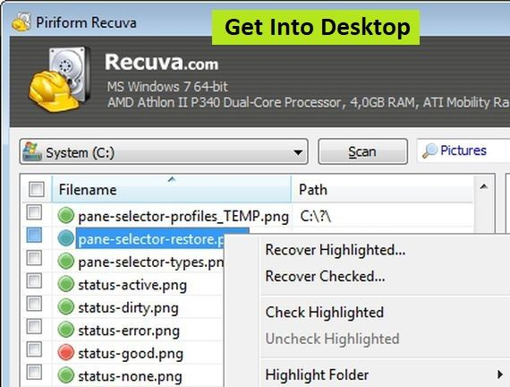 Recuva 1 53 File Recovery Plus Portable Free Download - Get Into PC