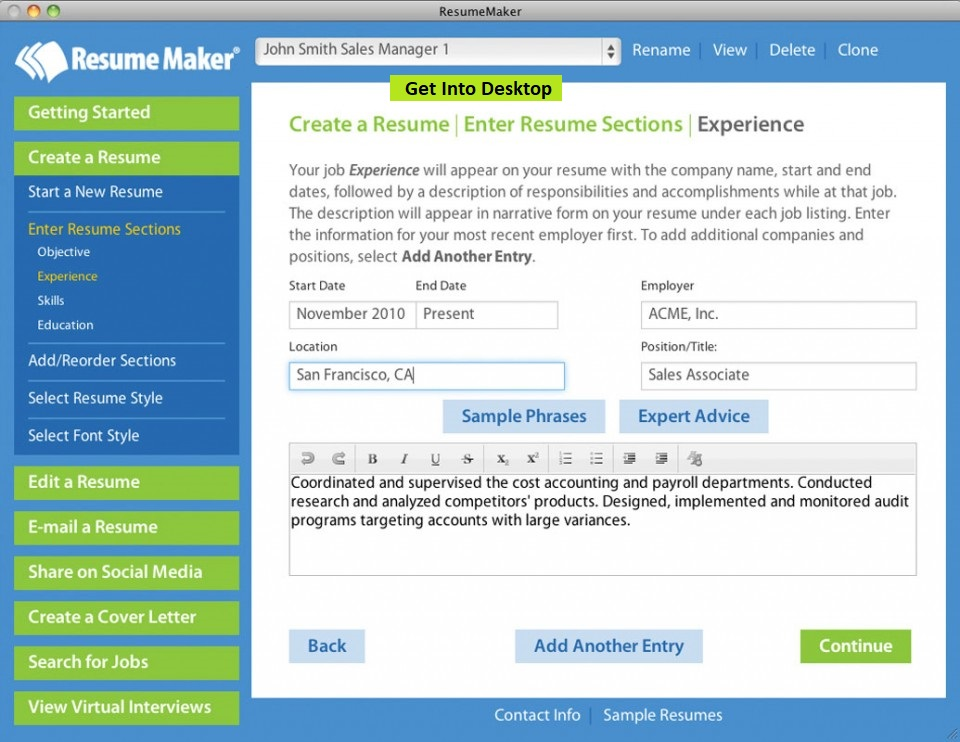 free download resumemaker professional deluxe 2018